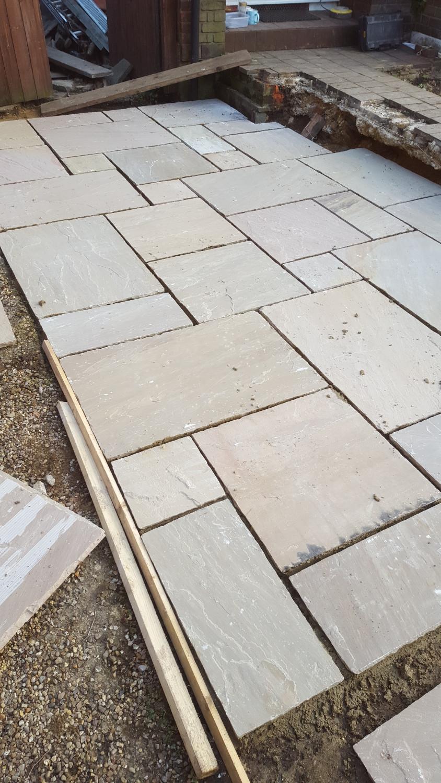 Natural stone paved driveway, Walthamstow, E17