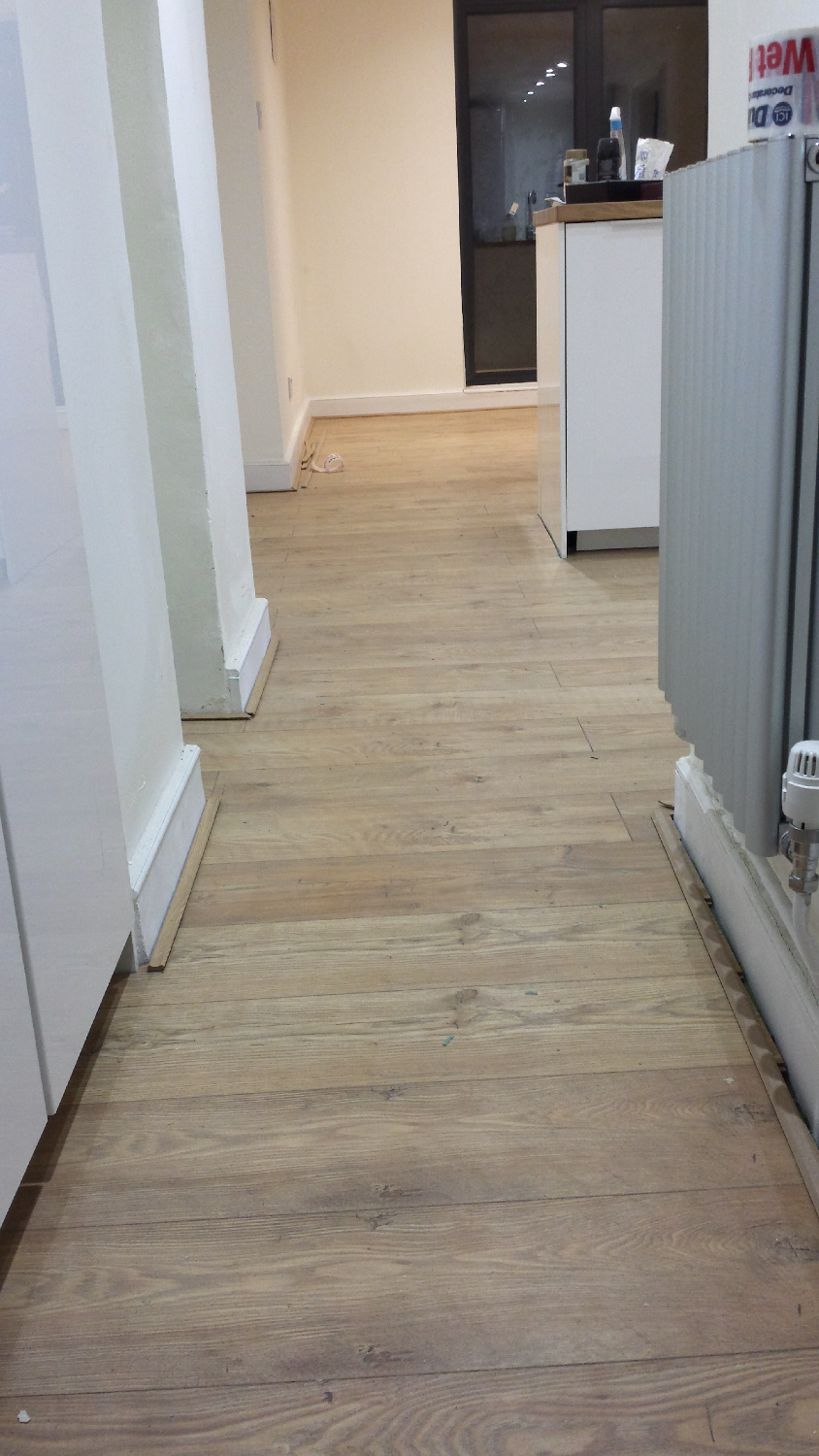 Fitting kitchen flooring