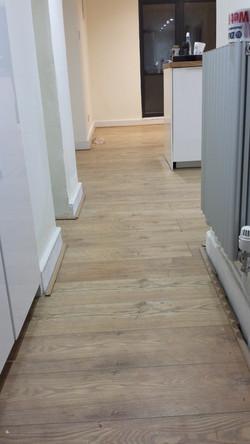 Fitting kitchen flooring