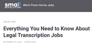 Everything You Need to Know About Legal Transcription Jobs