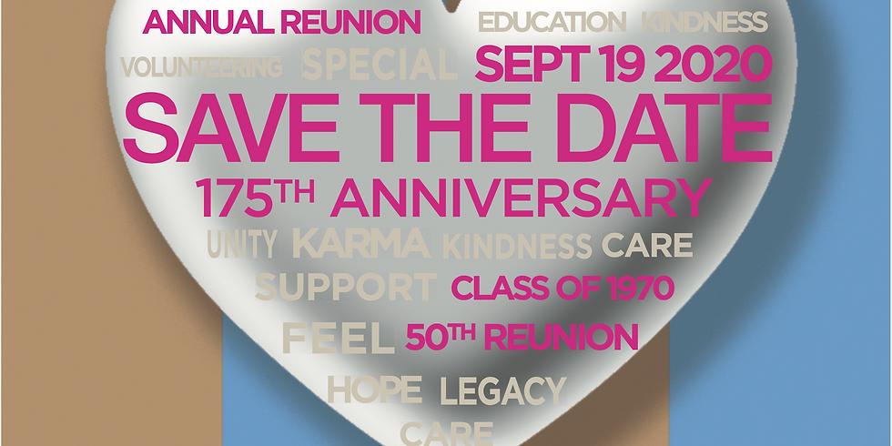 Rescheduled: Alumnae Annual Reunion – 175th Celebration
