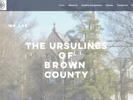New Website Brings Fresh Look to Ursulines of Brown County