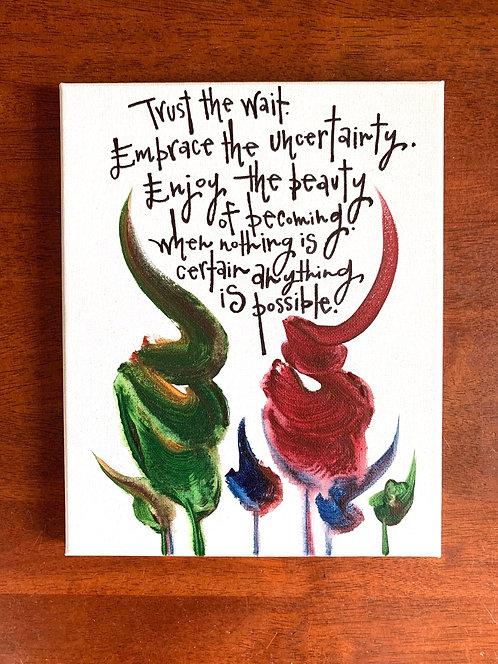 8x10 Original Quote Painting