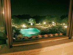 pool windows view