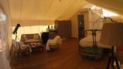 glamping tent indoor ac