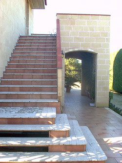 steps for the first floor apartment