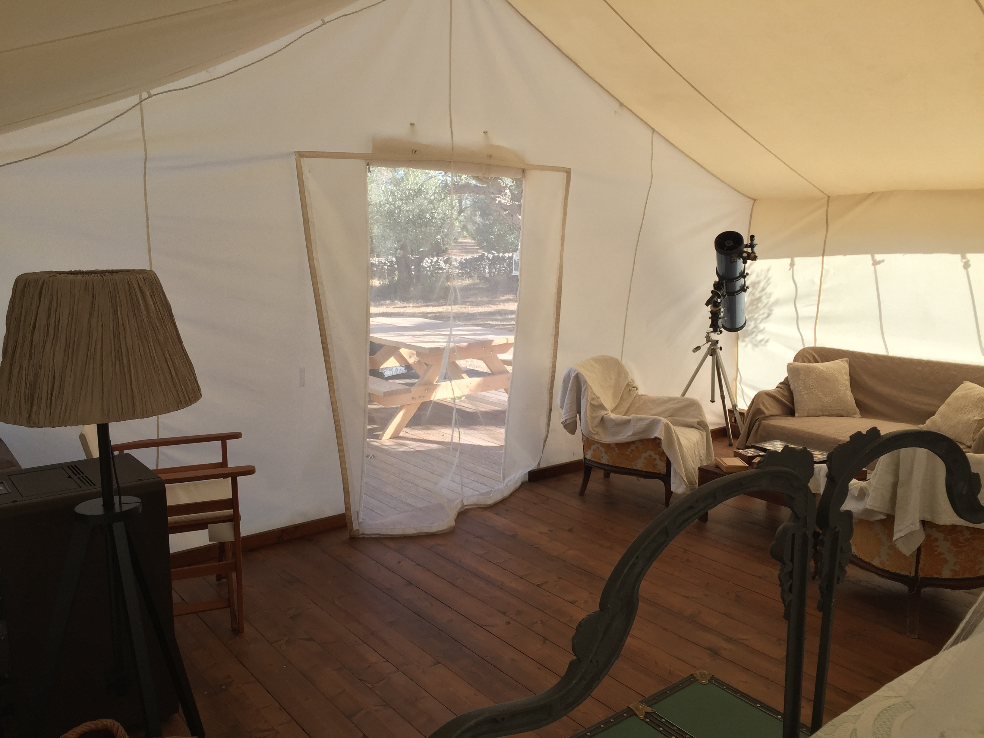 glamping tent indoor
