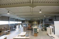 Een moderne atelier met een logische structuur