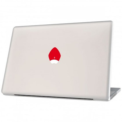 The Pope, red: Laptop Sticker - The Hats