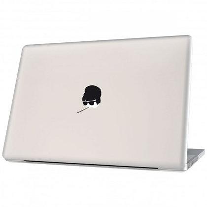 Audrey, black: Laptop Sticker - The Hats