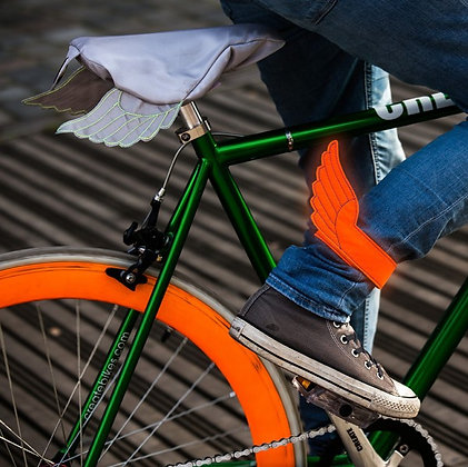Fly Rider, neon orange: Bike Leg Straps