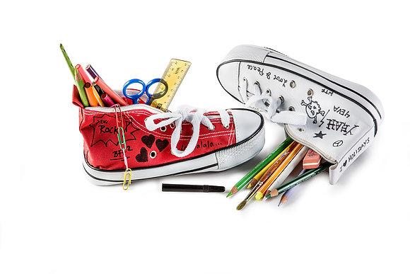 Pen Case: Donkey Doodle, red