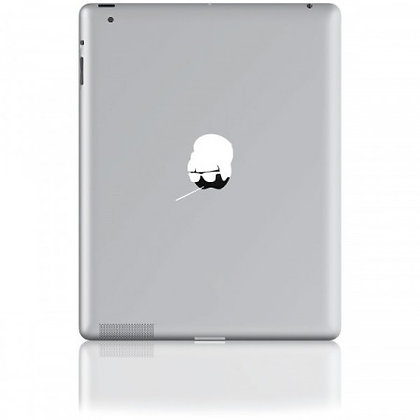 Audrey, white: Tablet Sticker - The Hats