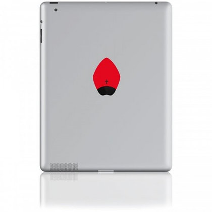 The Pope, red: Tablet Sticker - The Hats