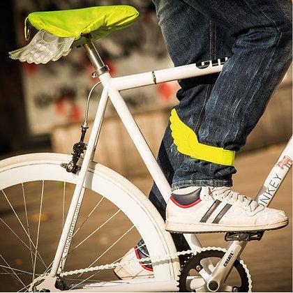 Fly Rider, neon yellow, Bike Leg Straps