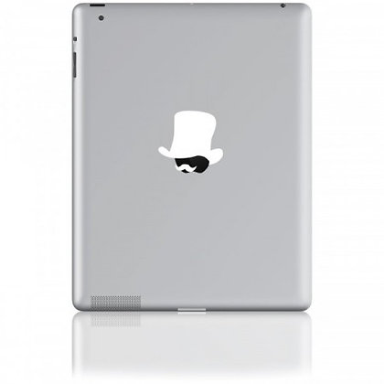 Mr. Watson, white: Tablet Sticker - The Hats