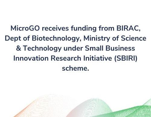 MicroGO receives funding from BIRAC.