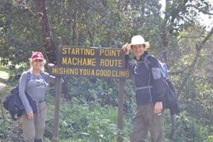 Ann & John begin Kilimanjaro climb
