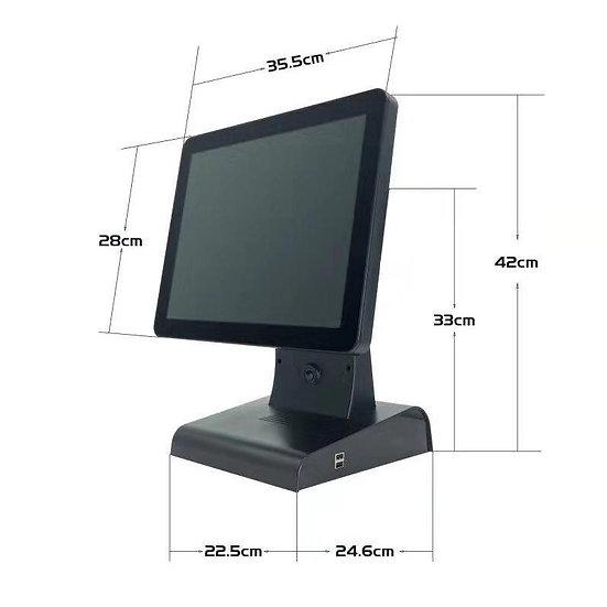"NG ALL IN ONE WINDOWS 10 PRO - POS TERMINAL 15"" J1900 / 4GB /128GB, BLACK"