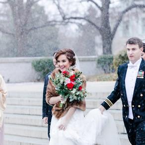 Winter Wonderland Wedding at the US Naval Academy Rachael & Ryan