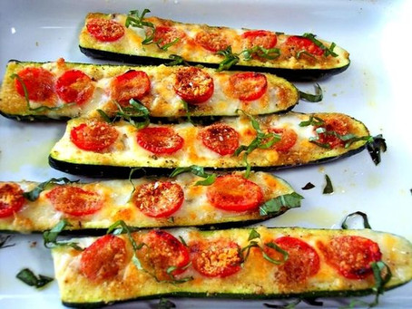 What's on the Menu? Cucumber Pizza Boats