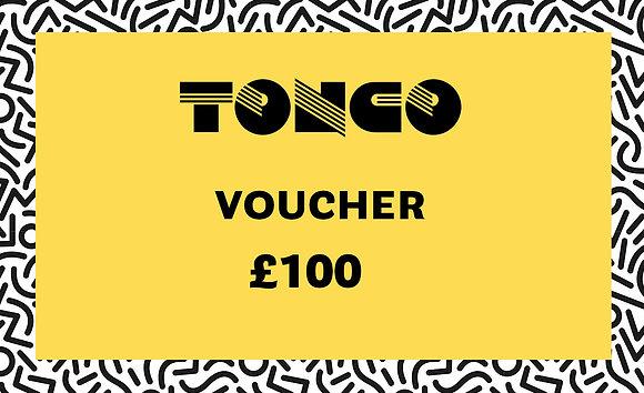 TONCO £100 Voucher