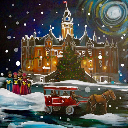 """""""Christmas City Hall,"""" 2020 Edition - Pack of 5 Square Cards, limited"""