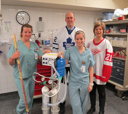 Proceeds from the 2014 Game helped purchase a new Broncoscope for the AMGH