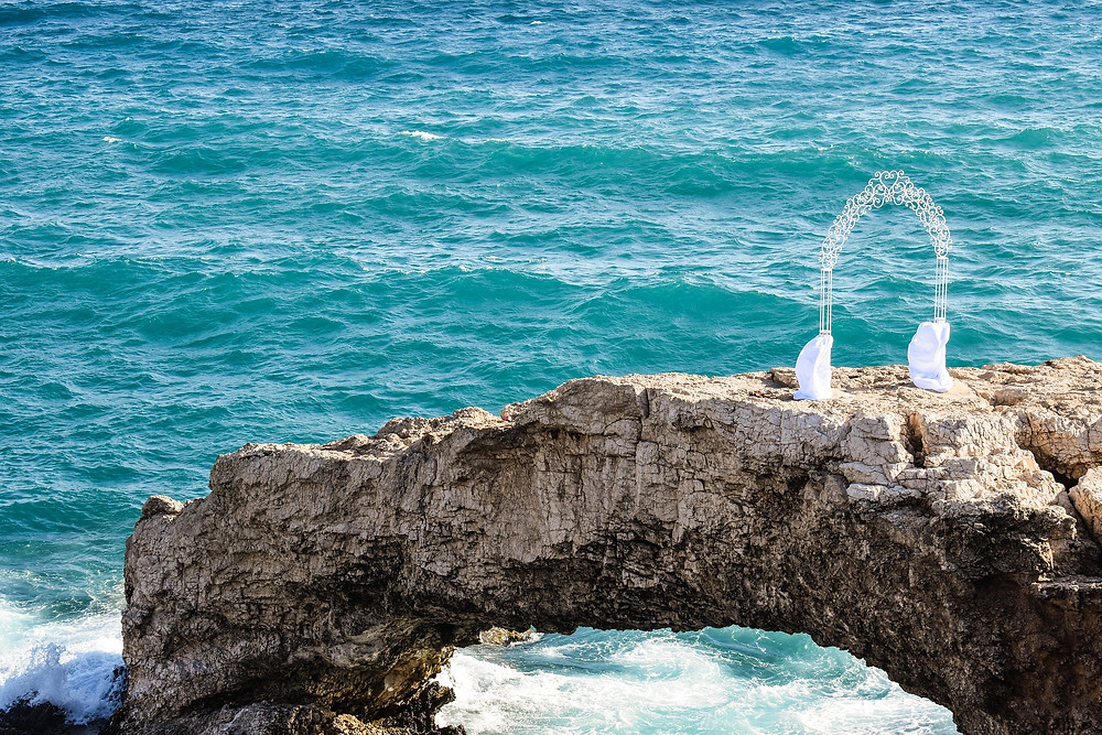 ceremony destination wedding cliff to cut costs portugal