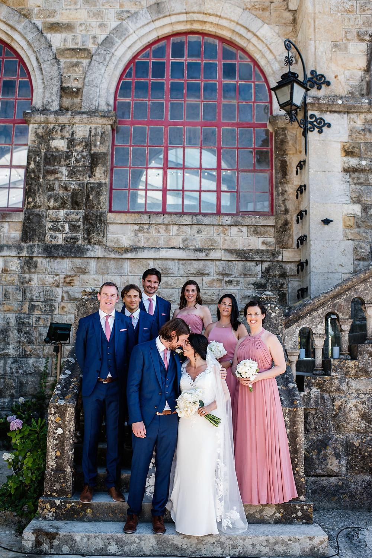 portugal wedding planner estoril forte da cruz lisbon sea view bridesmaids groomsmen