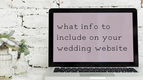 What info to include on your wedding website