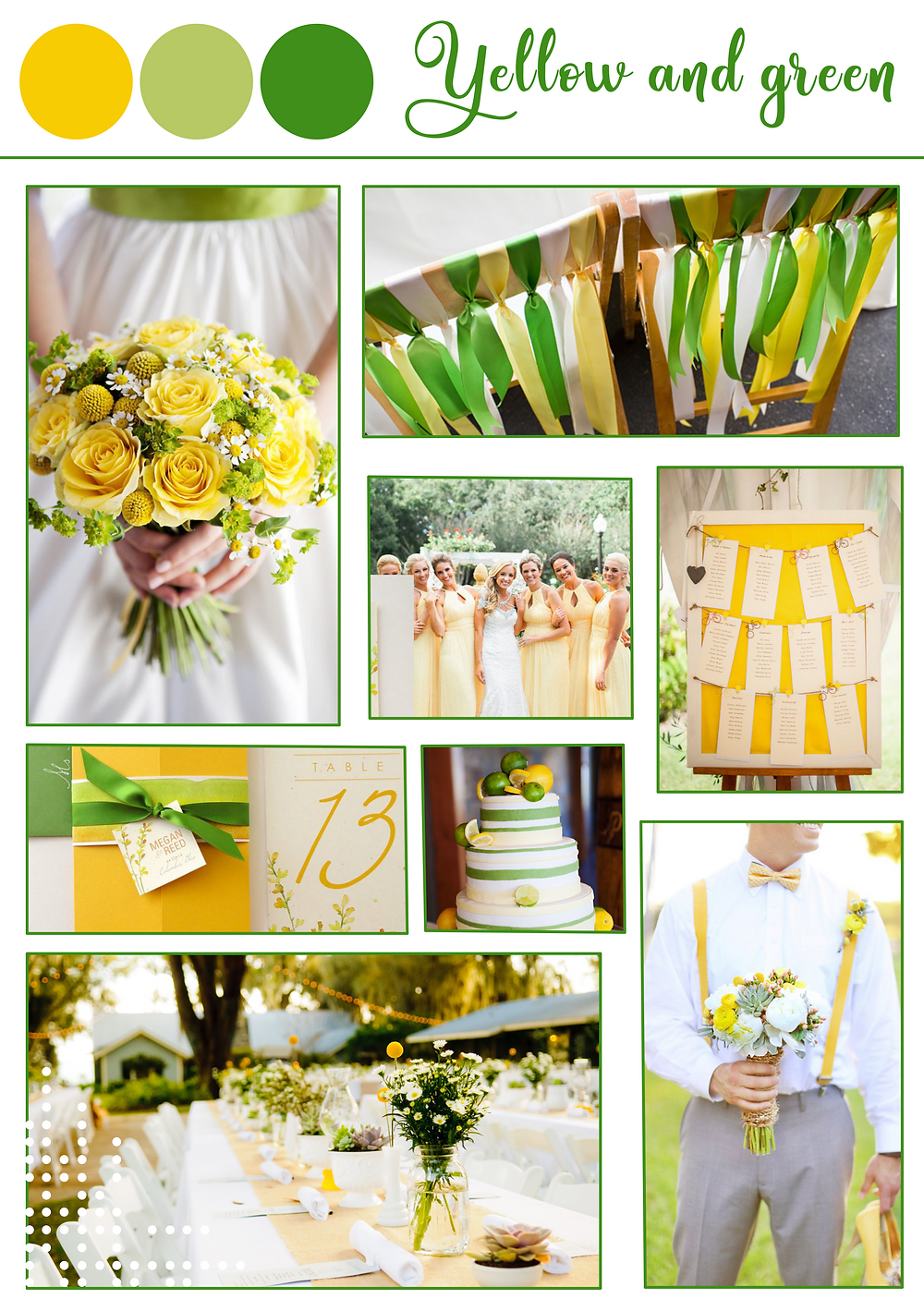 Yellow green spring color palette. destination wedding portugal