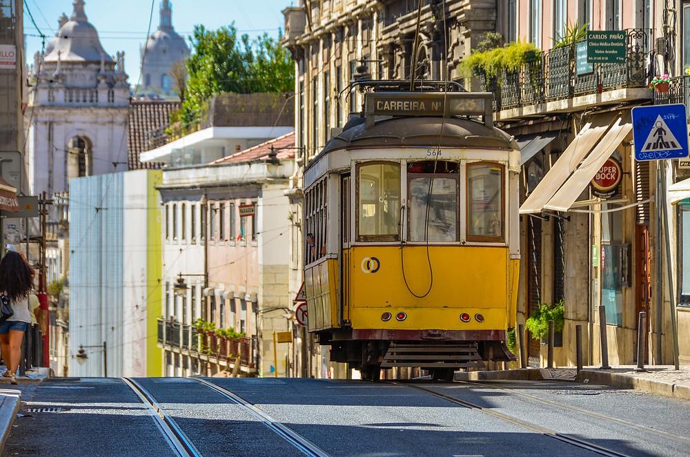 lisbon tram, destination wedding portugal