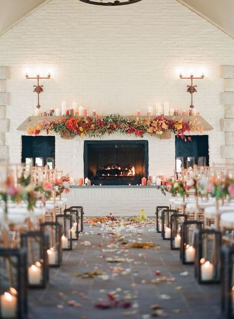 fireplace in a wedding. Portugal wedding planning