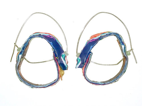 Ultraviolet Hoop Earrings
