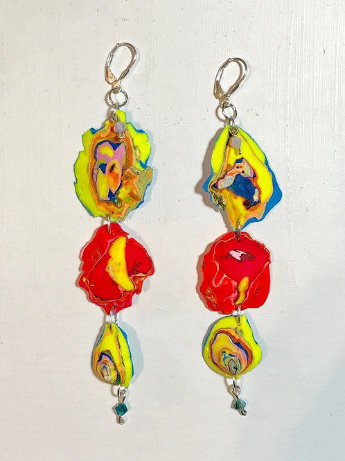 Rose Buds Dangle and Drop Earrings