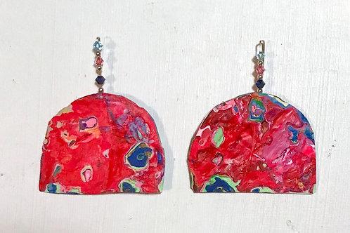 Red Sunrise Earrings