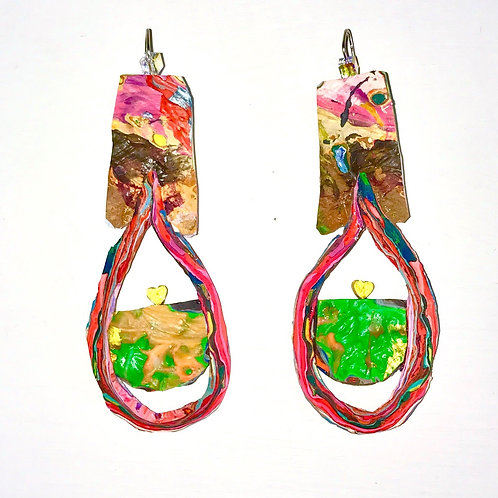 You Are In My Heart Dangle and Drop Earrings