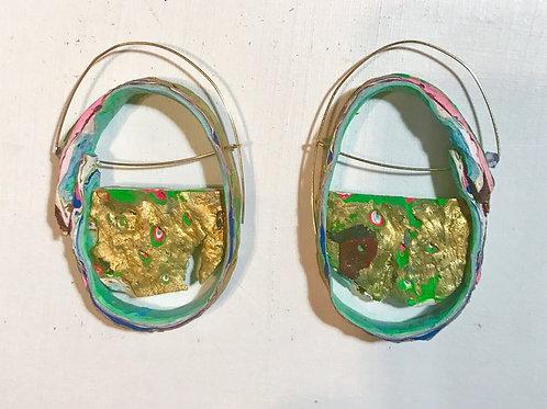 Golden Paths Earrings