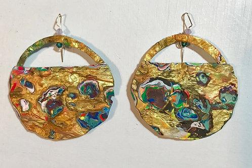 Solar Disc Dangle and Drop Earrings