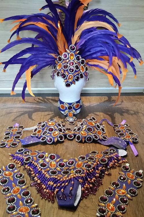 Purple/Orange Samba Costume