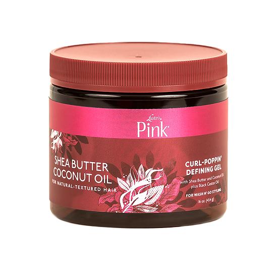 Pink Shea Butter Coconut Oil Curl-Poppin' Defining Gel