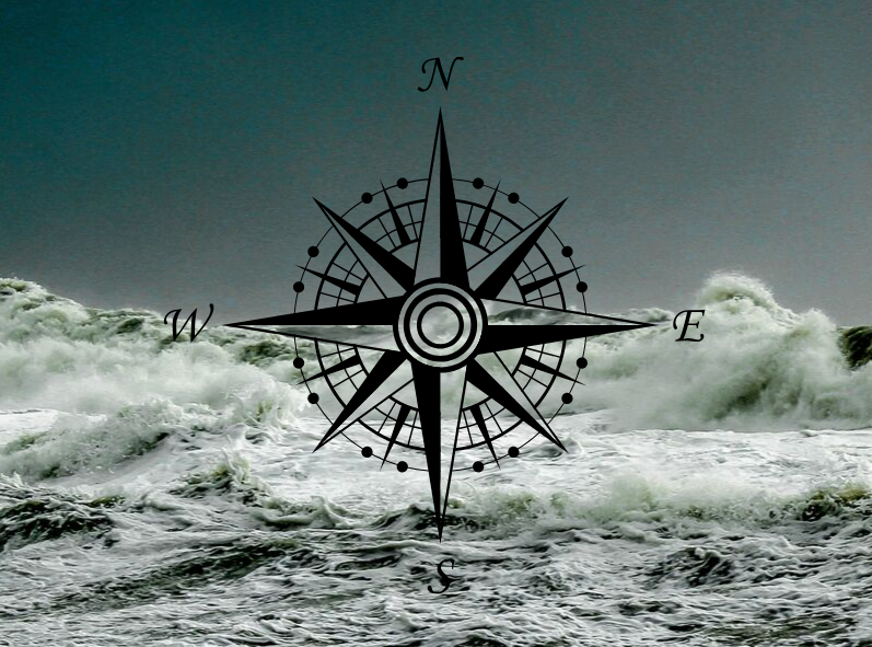 rough seas and a compass