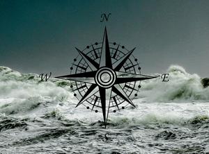 rough seas and a compass