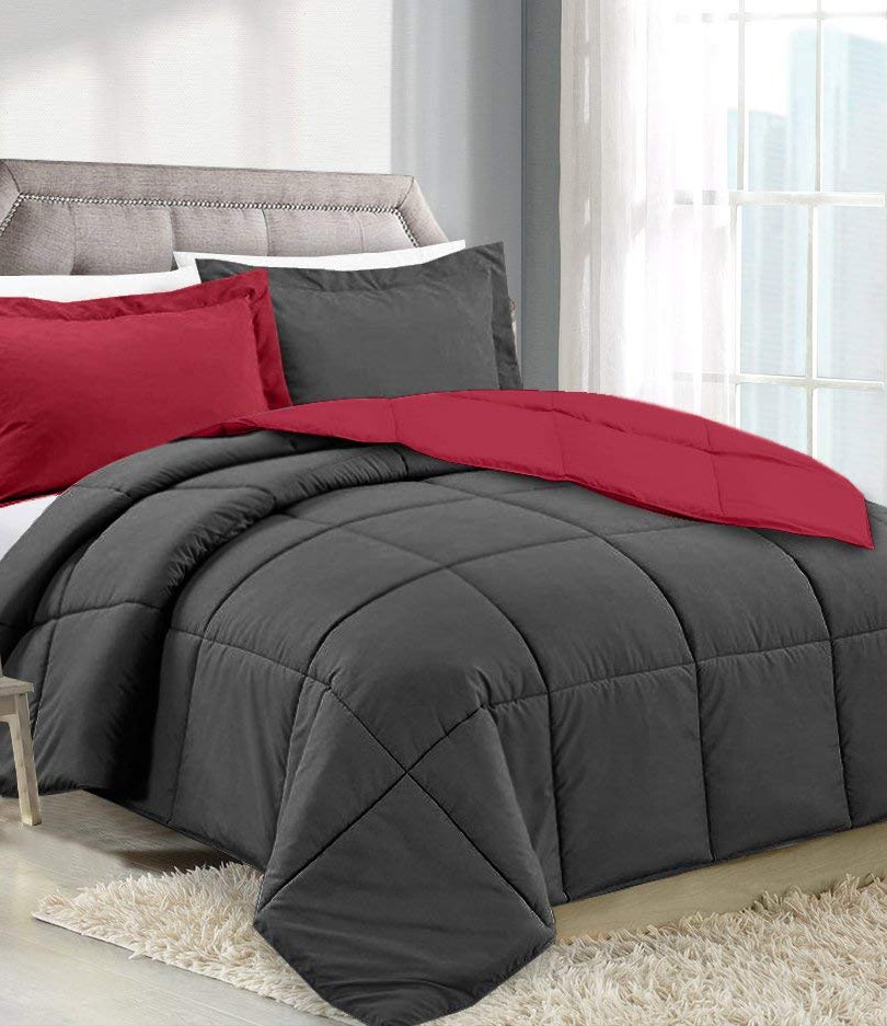Red/Charcoal Comforter