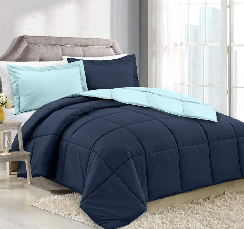 Navy/Aqua Comforter