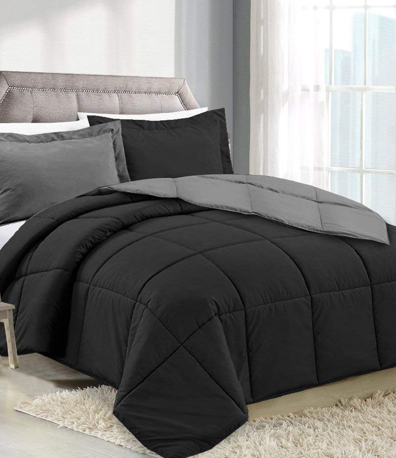 Black/Charcoal Comforter