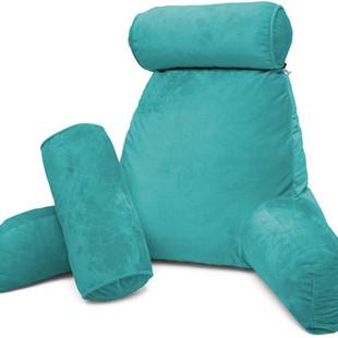 Oreiller de lecture turquoise