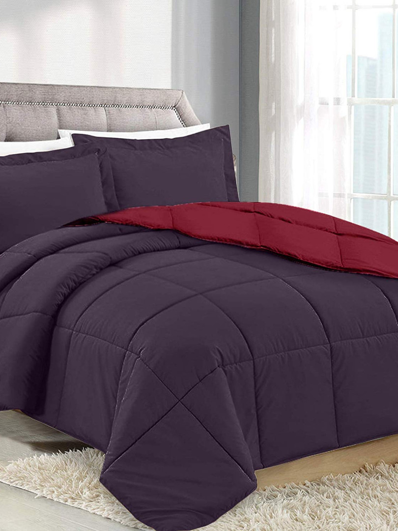 Eggplant/Wine Comforter No King