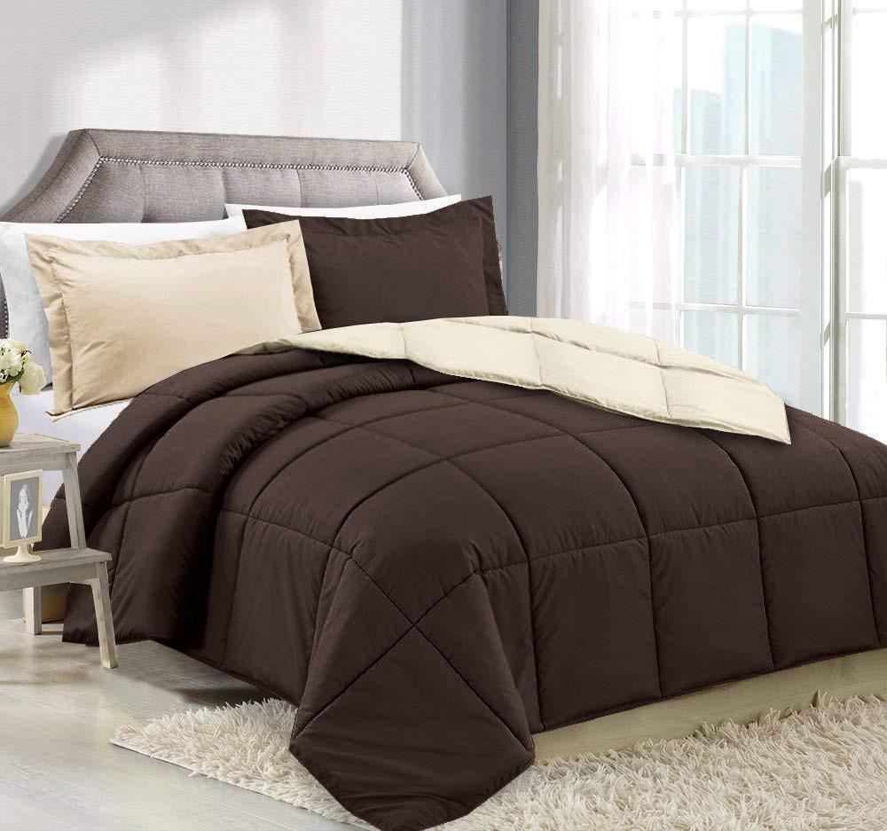 Chocolate/Cream Comforter